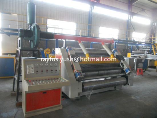 Semi Automatic Flute Lamination Machine pictures & photos