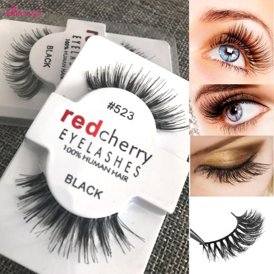 4d3065dd3fe Eye Lashes Red Cherry Eyelashes Wholesale 100% Human Hair Eyelashes  pictures & photos