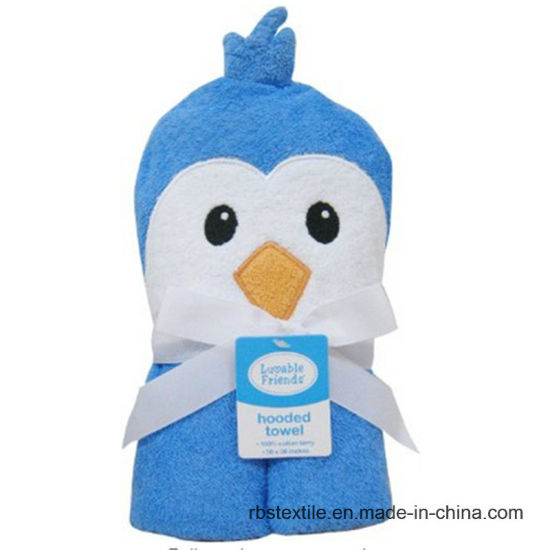 Promotional Wholesale Baby Hooded Bath Towel pictures & photos