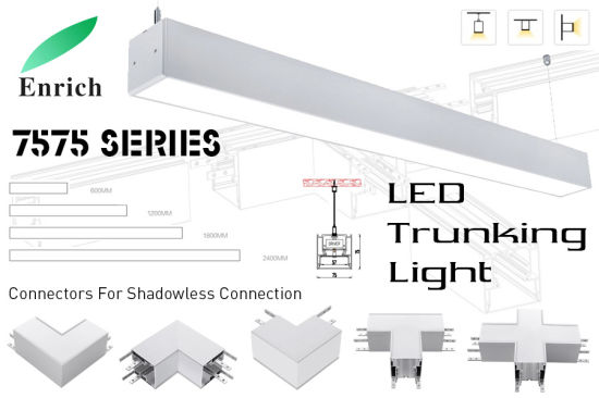 7575 Series Seamless Connection LED Linear Trunking Light Most Popular for Supermarket pictures & photos