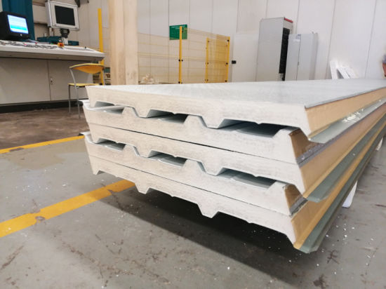 FM Approved Stainless Steel Metal Covered Insulated PIR/PUR/Rock Wool Sandwich Panels for Wall/Roof and Cold Room