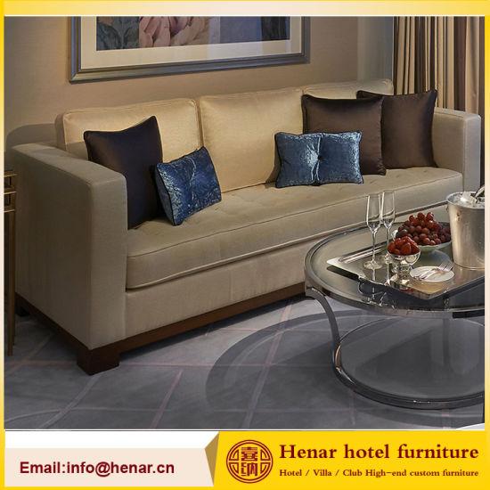 Hotel Bedroom Furniture 3 Seat Sofa