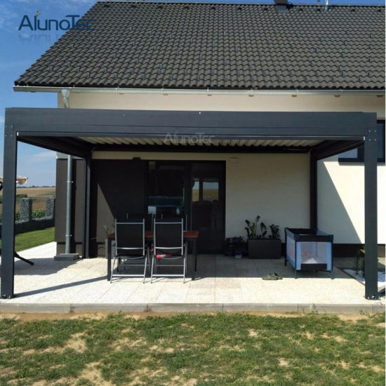 motorized aluminum patio roof systems with rainproof pergola system - Aluminum Patio Roof