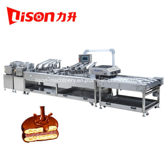 Ce High Speed Biscuit Sandwiching Making Machine with Rows Multiplier