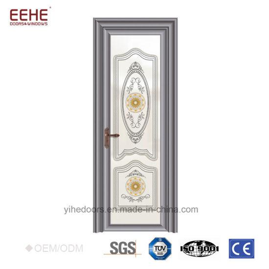 Sound Insulation Aluminum Glass Doors Powder Coated Aluminium Frame Doors