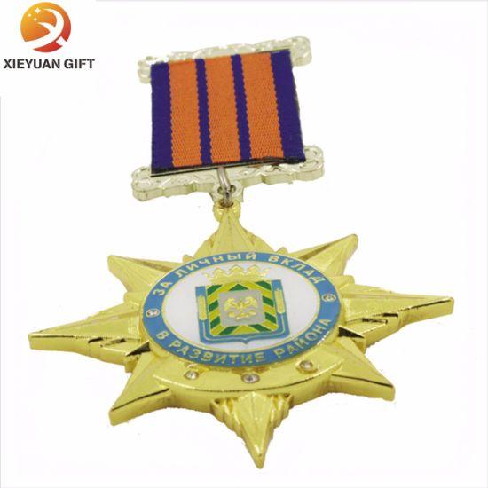 Star Shape Custom Ribbon Lapel Pins Made in China - China Police
