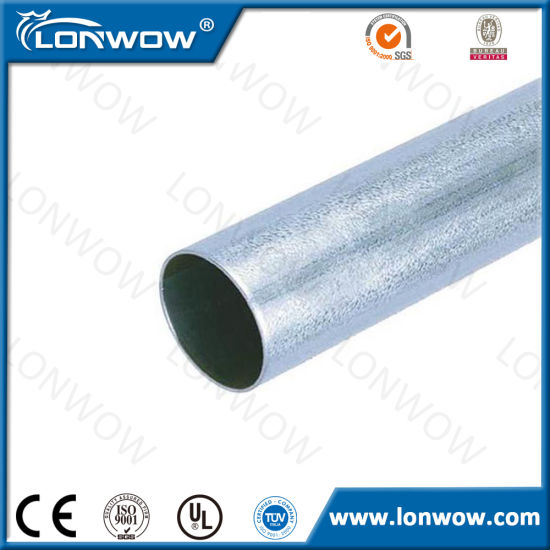 Hot Dipped Galvanized Mild Carbon Welding EMT Round Steel Tubing