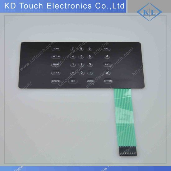 Custom Waterproof Embossed Membrane Keypad Switch Control for Industrial with Metal Dome