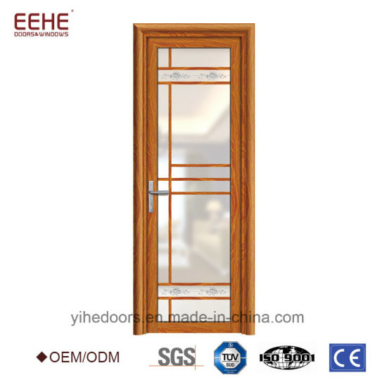 Beatiful Design Frosted Glass Bathroom Door Aluminum Profile