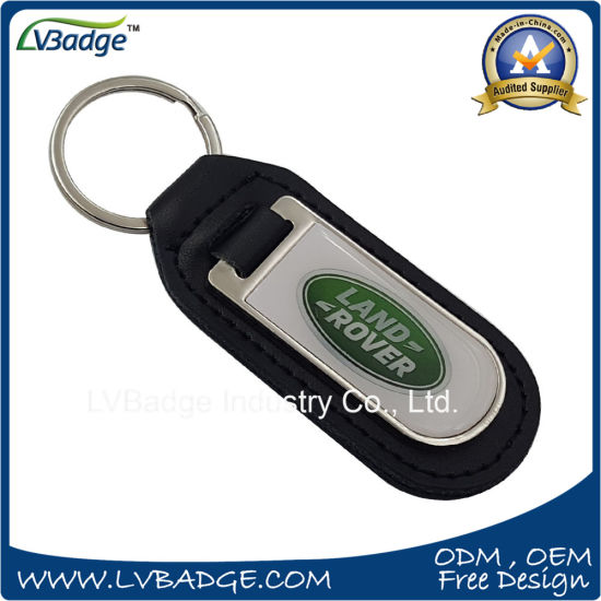 Customized Gift PU Leather Keychain Without Logo pictures & photos