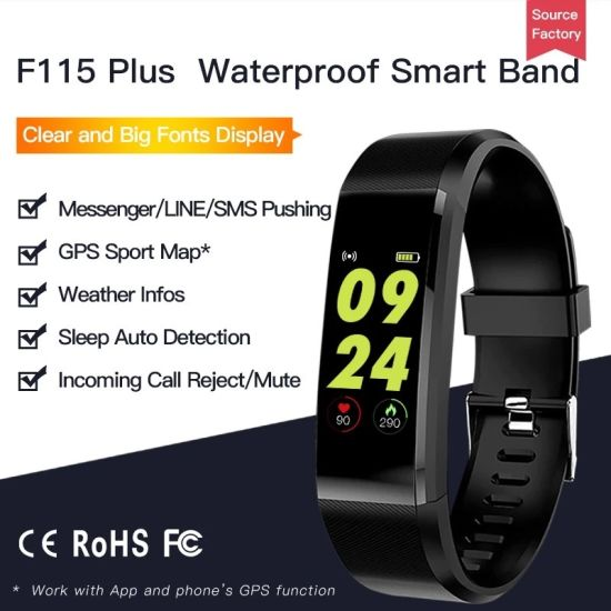 Health Fitness 0.96 OLED Color Screen ID115plus Smart Bracelet with Heart Rate Smart Bracelet Smart Watch Gift Watches