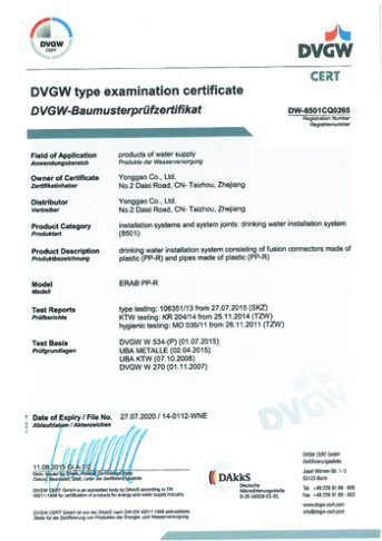 PPR DIN 8077/8088 Dvgw Certificate End Cap pictures & photos