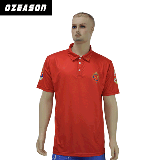 b7e5e2ae6 Custom Design Sublimated Sportswear Club Red Polo Shirt pictures & photos
