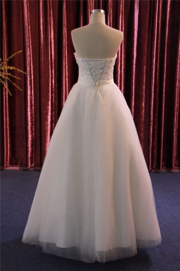 China New Custom High-End Strapless Ruched Bridal Dress Wedding ...