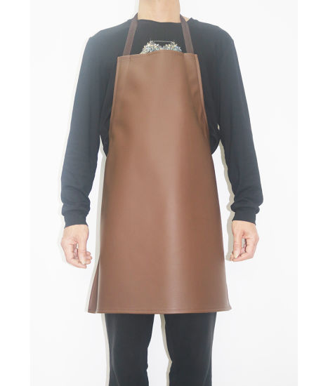 High Quality PVC Leather Kitchen Cooking Work Chef Bib Apron