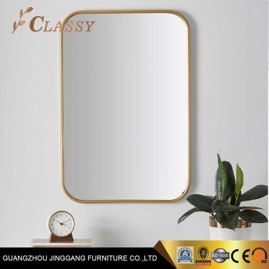 Bathroom Mirror Golden Hotel Home Wall Mirror