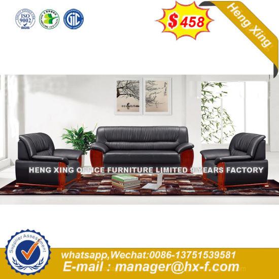 Merveilleux High Quality Hard Wood Frame Leather Used Office Sofa 3+1+1 (HX F640)