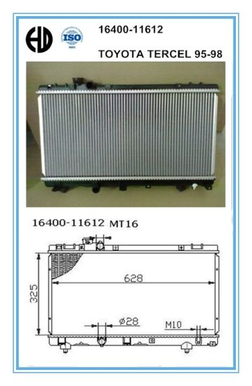Car Radiators for Toyota Tercel 95-98 pictures & photos