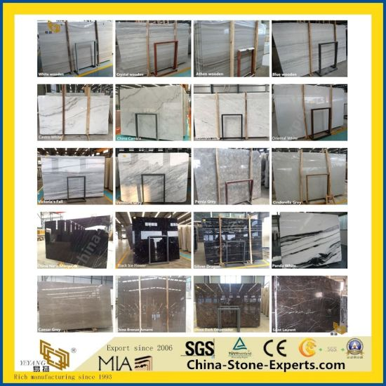 Cheap Polished White/Green/Black/Grey/Blue/Red/Yellow/Pink/Brown/Marquina/Carrara/Calacatta/Wood/Artificial/Onyx/Natural Stone Marble for Kitchen/Bathroom