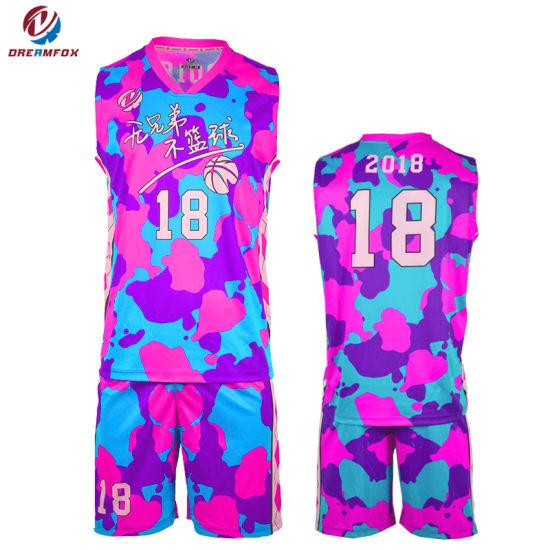 China Custom Sportswear Sublimated Basketball Uniform Design