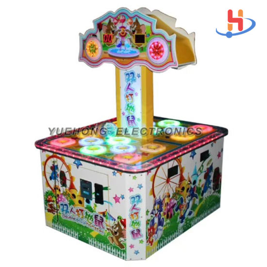 Hot Sale Indoor Amusement Game Beat Beans 2 Palyers Redemption Ticket Beating Naughty Beans