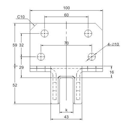 China Glks H12 Counter Weight Elevator Lift Safety System Nylon