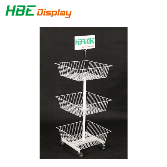 Toys Shop Storage Stand Display Exhibition Rack with Iron Baskets