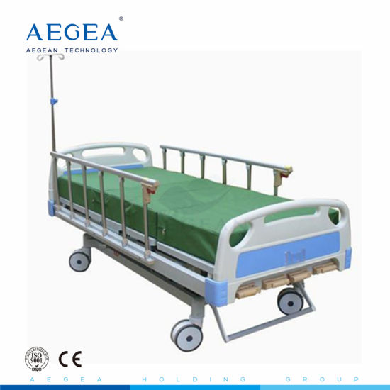 Five Function Manual Adjustable Patient Nursing Bed Price pictures & photos