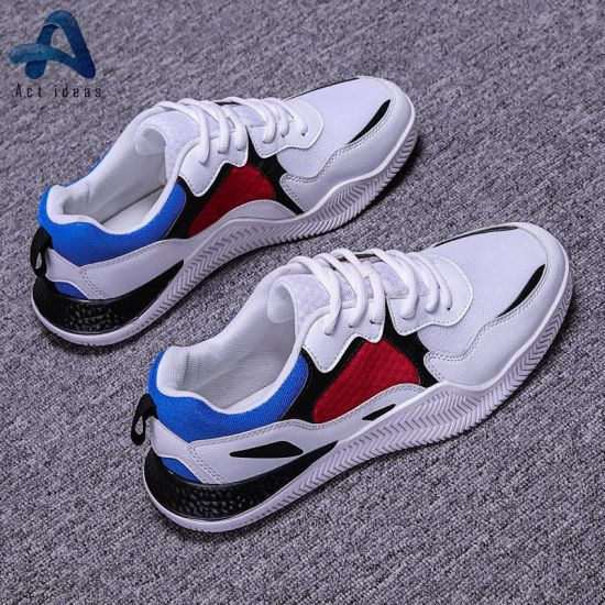 2019 New Designs Breathable Light Woven Fabric Men Sport Shoes