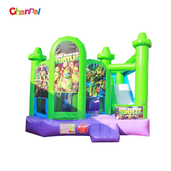 Ninja Turtle Custom Cheap Inflatable Combo Bouncer pictures & photos