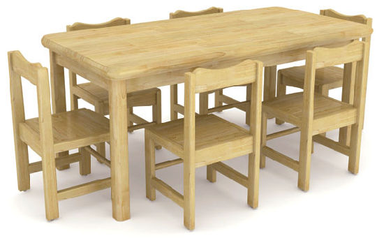 Kindergarten Wood Table/School Furniture/Children's Study Table and Chair