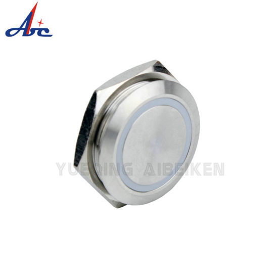 30mm 12V Blue LED Momentary Metal 4pin Push Button Switch