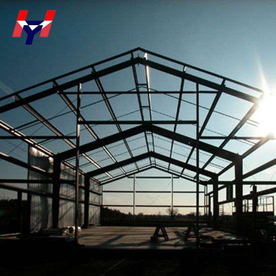 H-Beams Easy Installation Steel Structure Roof with Sandwich Panel