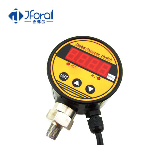 "Jfak721 High Precision Low Price 400bar Gas Pressure Gauge with NPT1/4"" or Customized Thread"