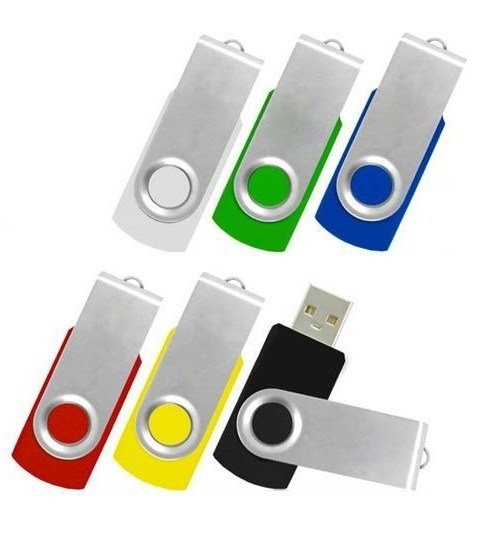 Promotional Gift Swivel USB Flash Drive with Logo Printing Service
