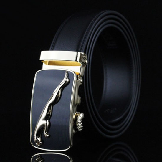 Wholesale OEM Personalized Luxurious Men's Genuine PU Automatic Button Belt
