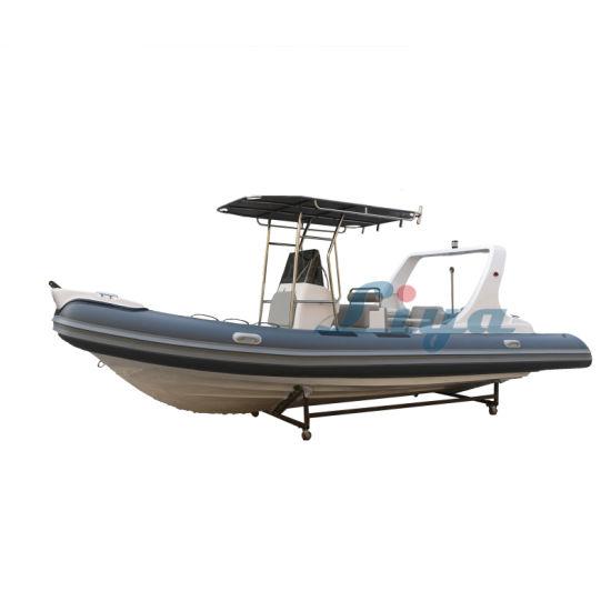 Liya Rib Boat Rigid Inflatable Boat Rib Boat Outboard Motor 6.6m/21.7feet