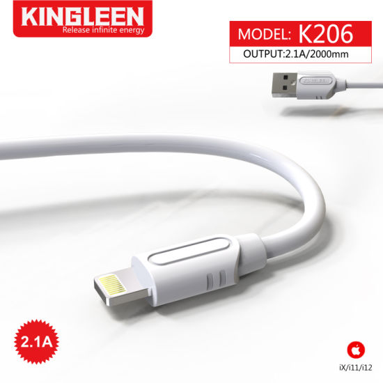 3FT USB Charging & Syncing Cord 2-Meter Cable 2.1A TPE Cable Compatible with iPhone Charger X/11/11 PRO Max/12/12 PRO/12 PRO Max