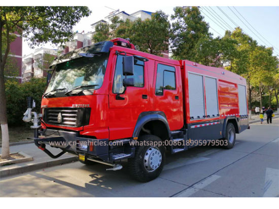 HOWO Sinotruck 4*4 9000 Liters Foam and Water Fire Fighting Truck for Sales