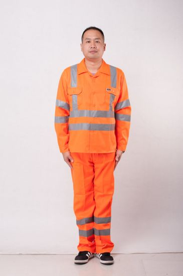 100%Polyester Reflective Tape Thin Cloth Workwear for Construction Workers
