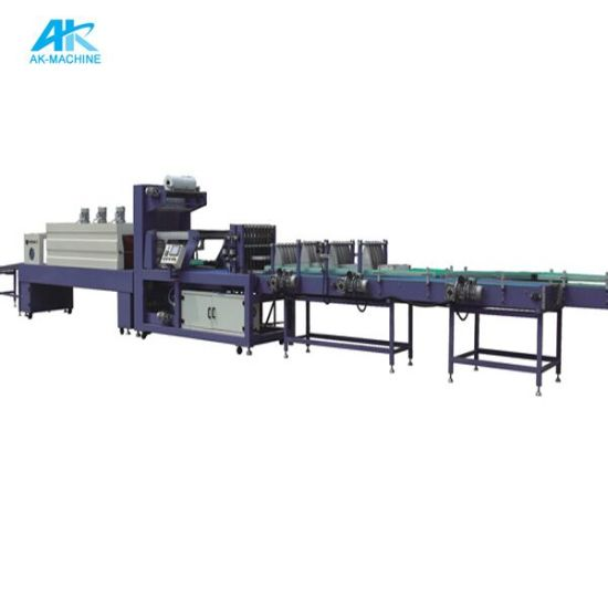 Packing Machine for Full Automatic PE Heat Shrink Film Shrinking Wrapping Packaging Machine (AK-250)
