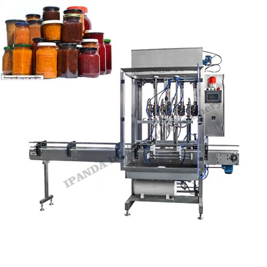 Automatic Pneumatic Cream and Paste Jar Bottle Filling Capping Machine