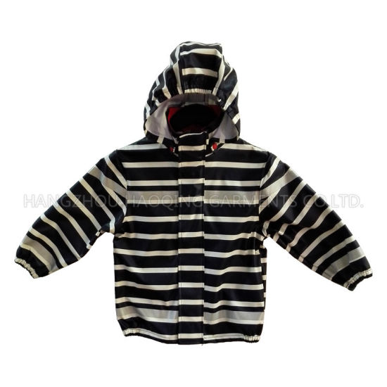 Zebra Reflective PU Rain Jacket/Raincoat pictures & photos