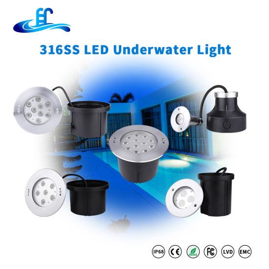 18watt 36watt 54watt 316ss Recessed LED Underwater Pool Light