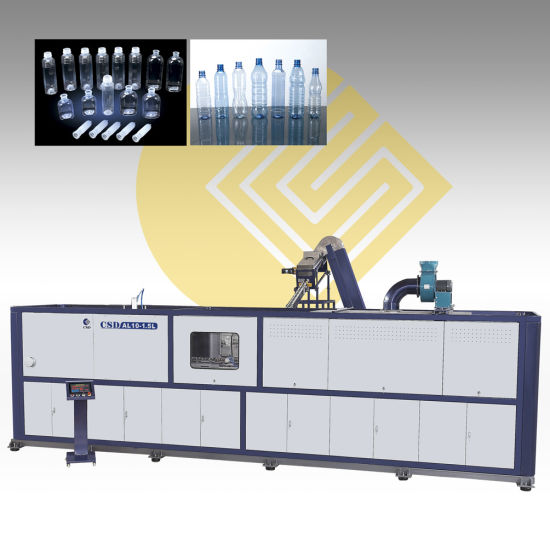 CE Approved With Pet Two-Stage Linear High-Speed Automatic Blow Molding Machine (CSD-AL10-1.5L) pictures & photos