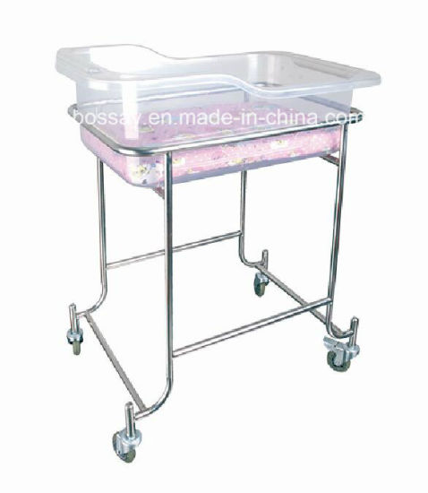 (BS-612) Hospital Stainless Steel Baby Bed
