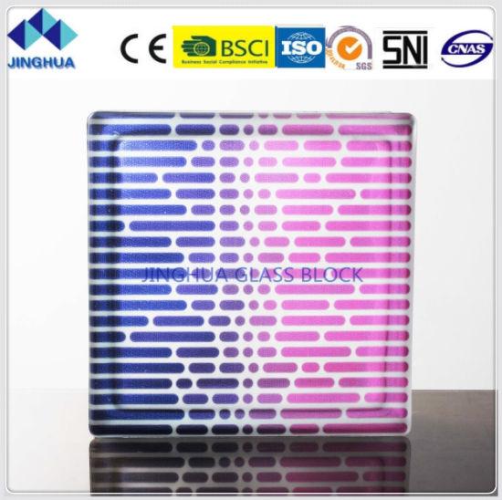 Jinghua High Quality Artistic P-16 Painting Glass Block/Brick
