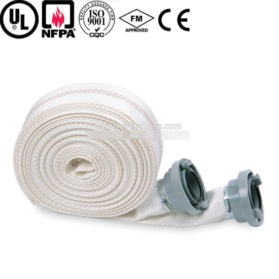 5 Inch Colorful Flexible Canvas Fire Resistant PVC Hose pictures & photos
