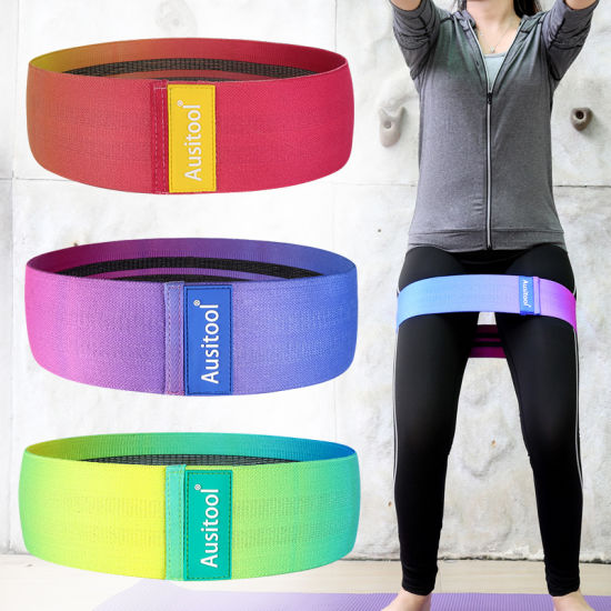 Cotton Latex Booty Color Resistance Bands Set Fitness Band for Exercise
