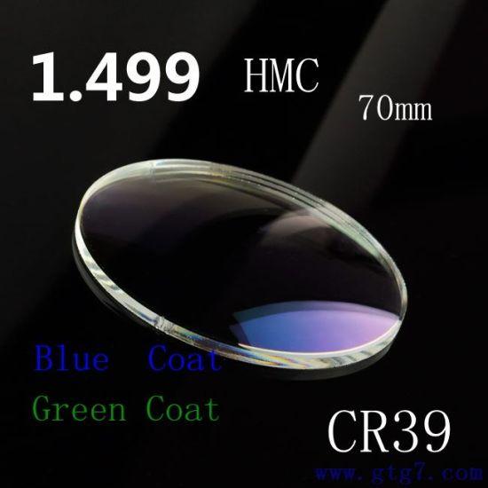 1.1.1stock Lens 1.50 Hmc Single Vision Optical Resin Lenses High Quailty (ISO9001&FDA&CE) Cr-39 1.499 Optical Lens